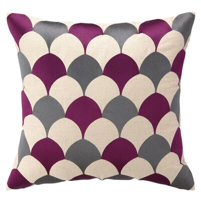 D.L. Rein Scales Linen Throw Pillow Color: Fuchsia
