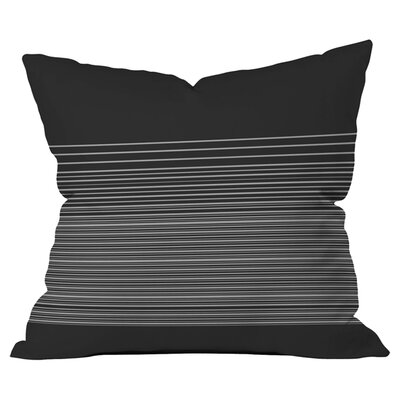 Matt Leyen Gradient Dark Outdoor Throw Pillow Color: Black/Gray