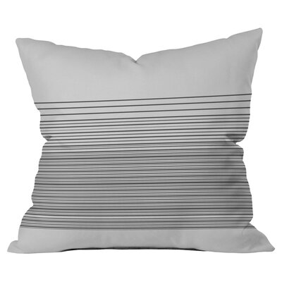 Matt Leyen Gradient Dark Outdoor Throw Pillow Color: White/Gray