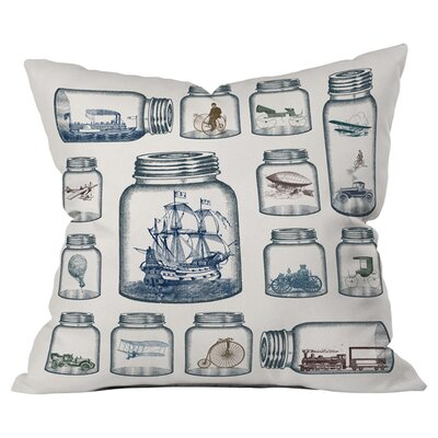 Belle13 Vintage Preservation Outdoor Throw Pillow