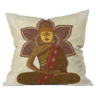 Valentina Ramos Sitting Buddha Outdoor Throw Pillow