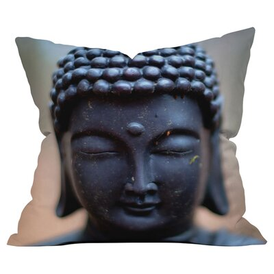 Bird Wanna Whistle Buddha Outdoor Throw Pillow