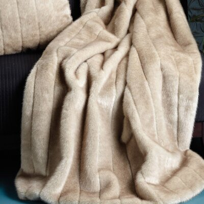Faux Mink Throw Size: 60 W x 60 L