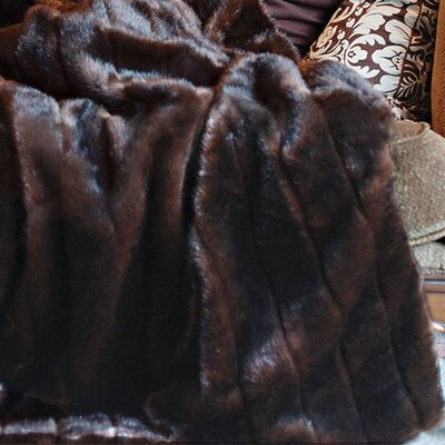 Faux Sable Throw Size: 60 W x 72 L