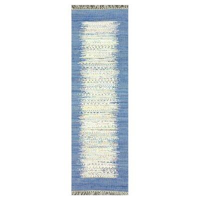 Bradia Blue/Beige Area Rug Rug Size: Runner 26 x 8