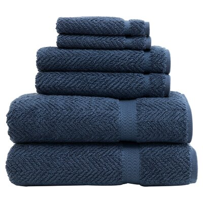 Clara 6-Piece Towel Set Color: Midnight Blue