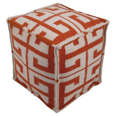 Nala Pouf Ottoman Upholstery: Orange