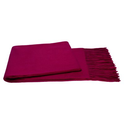 Cheverly Cashmere Throw in Raspberry