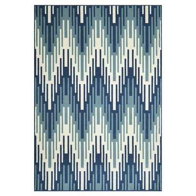 Wexler Hand-Woven Blue Indoor/Outdoor Area Rug Rug Size: Rectangle 86 x 13