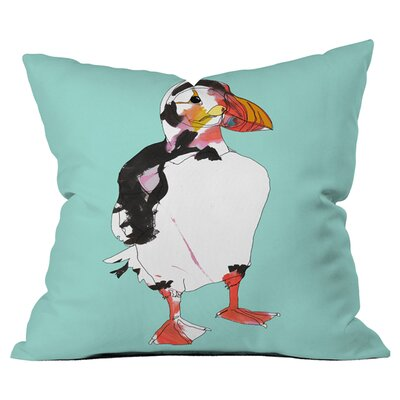 Casey Rogers Puffin Outdoor Throw Pillow Size: 20 H x 20 W