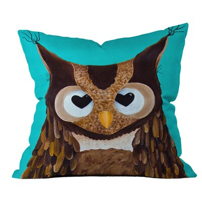 Mandy Hazell Owl Love You Outdoor Throw Pillow Size: 16 H x 16 W