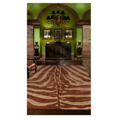 Serengeti Hand-Tufted Brown/Beige Area Rug Size: 2 x 3