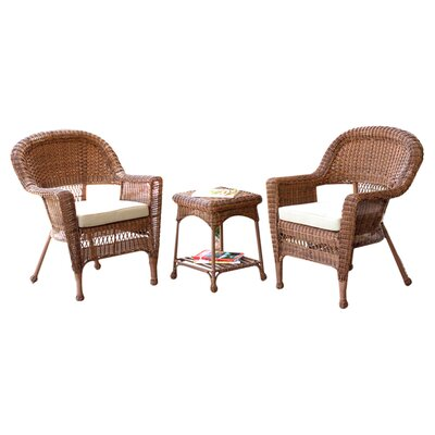 Sanibel 3 Piece Bistro Set with Cushion