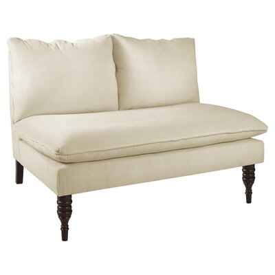 Caroline Settee Upholstery: Antique White
