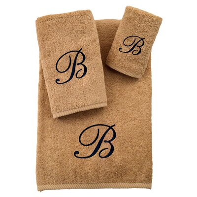 3-Piece Personalized Soft Twist Towel Set in Warm Sand