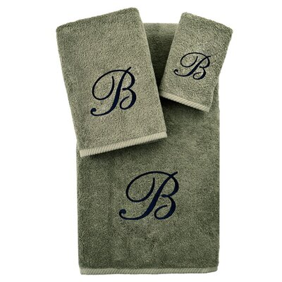 3-Piece Personalized Soft Twist Towel Set in Light Olive