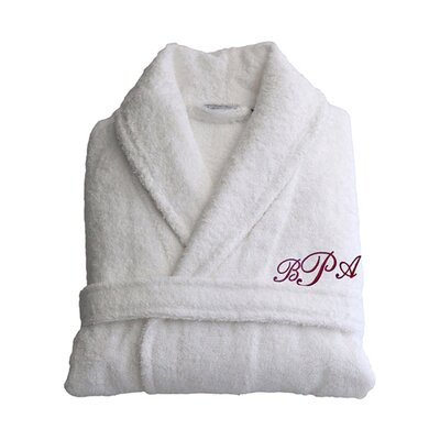 Personalized Small/Medium Terry Bathrobe in Red