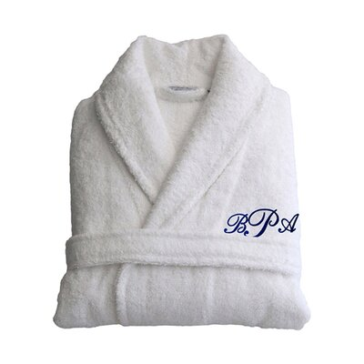 Personalized Small/Medium Terry Bathrobe in Navy
