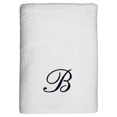 Personalized Soft Twist Bath Sheet in White