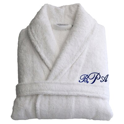 Personalized Large/Extra Large Terry Bathrobe in Navy