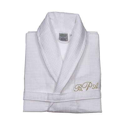Personalized Small/Medium Waffle Bathrobe in Gold