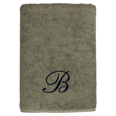 Personalized Soft Twist Bath Sheet in Light Olive