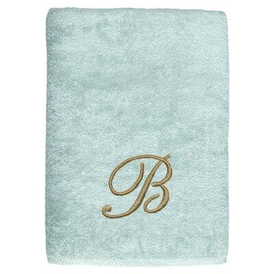 Personalized Soft Twist Bath Sheet in Aqua
