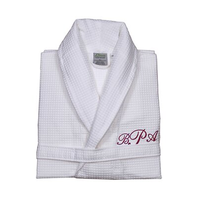 Personalized Small/Medium Waffle Bathrobe in Red