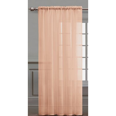 Infinity Sheer Curtian Panel in Coral