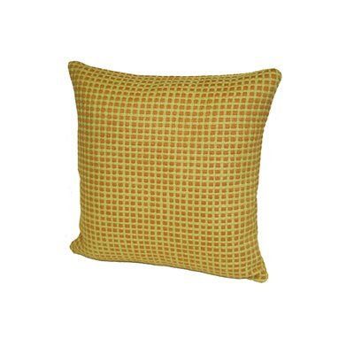 Aazad Throw Pillow Color: Olive/Gold, Size: 17 x 17