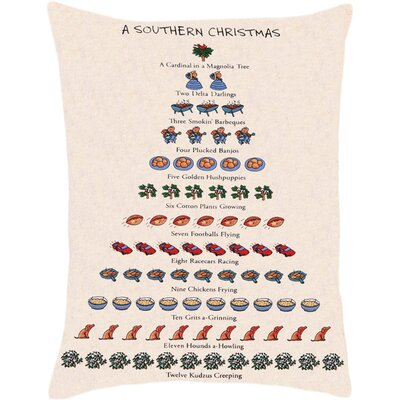 Southern Christmas Lumbar Pillow