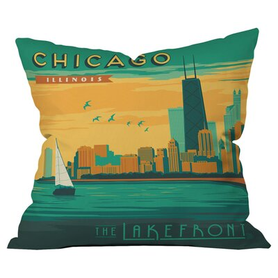 Anderson Design Group Lakefront Chicago Outdoor Throw Pillow
