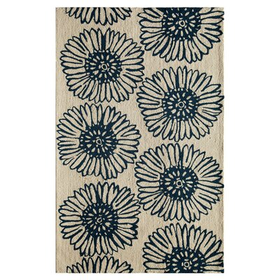 Daphne Hand-Woven Navy Area Rug Size: 76 x 96