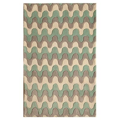 Hestia Hand-Woven Seafoam Ridge Area Rug Size: Runner 23 x 76