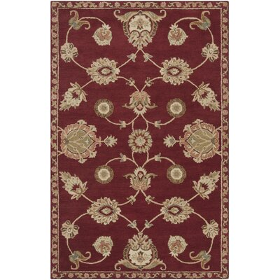 Vesta Burgundy & Yellow Area Rug Rug Size: Rectangle 9 x 13