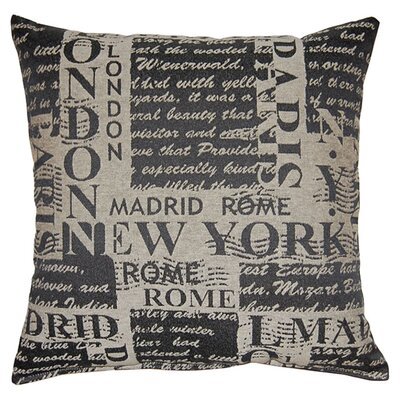 Bon Voyage Reversible Throw Pillow