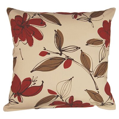 Bremer 100% Cotton Reversible Throw Pillow Color: Garnet