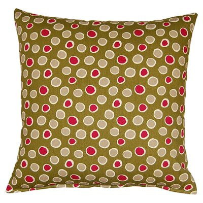 Poppy 100% Cotton Reversible Throw Pillow