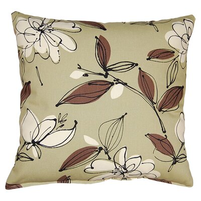 Bremer 100% Cotton Reversible Throw Pillow Color: Leaf