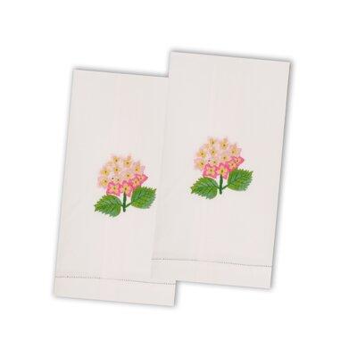 Hydrangea Hand Towel Color: Pink