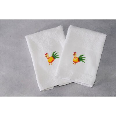 Claribel Rooster Terry  2 Hand Towel