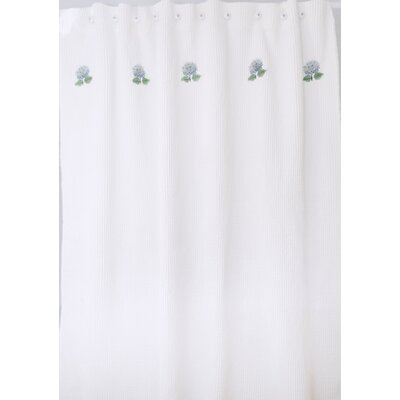 Hydrangea Waffle Cotton Shower Curtain