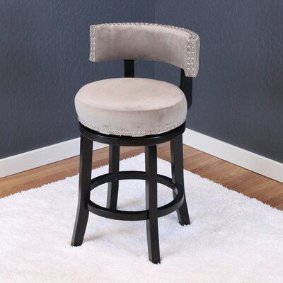 Tomoe 25 Swivel Bar Stool Upholstery: Taupe