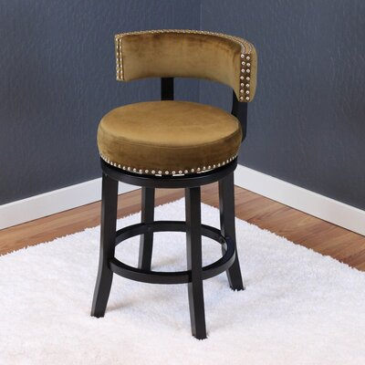 Tomoe 25 Swivel Bar Stool Upholstery: Brown Sugar