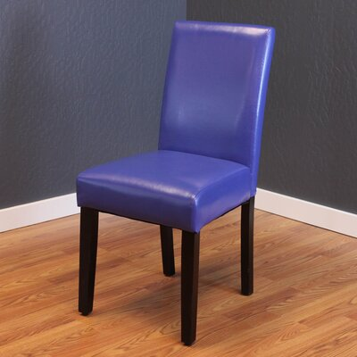 Donnellson Upholstered Dining Chair Upholstery Color: Blue