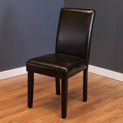 Donnellson Upholstered Dining Chair Upholstery Color: Brown