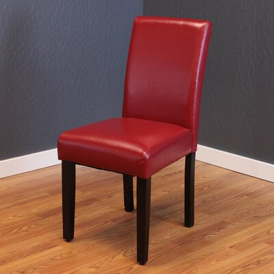 Donnellson Upholstered Dining Chair Upholstery Color: Red