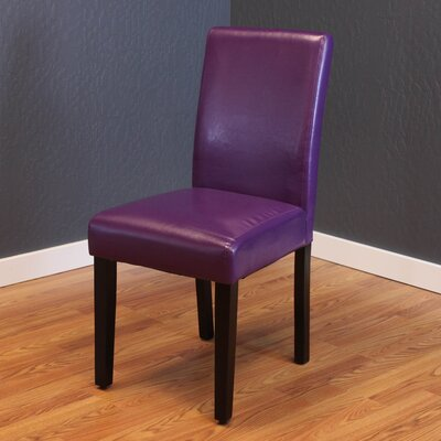 Donnellson Upholstered Dining Chair Upholstery Color: Boysenberry