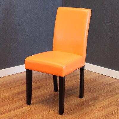 Donnellson Upholstered Dining Chair Upholstery Color: Sunrise Orange