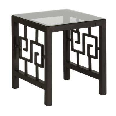 Greek Key End Table Finish: Deep Bronze